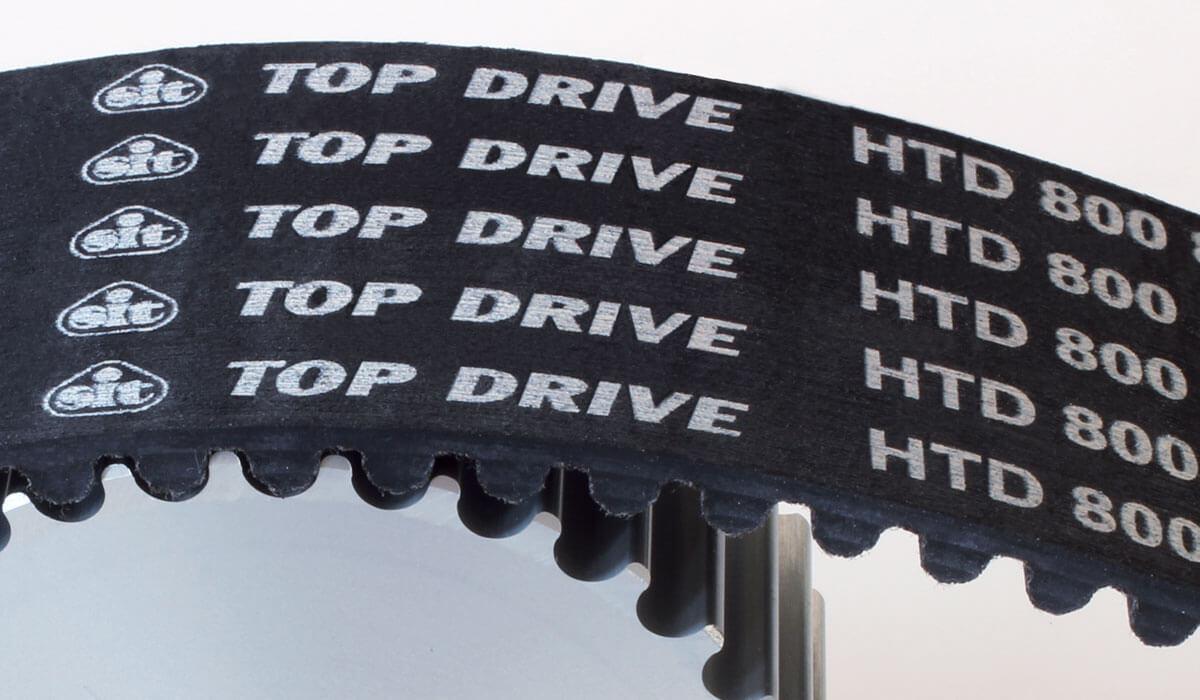 Trasmissioni a cinghia dentata in gomma Sit Top Drive HTD